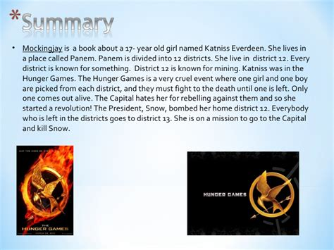 a book report on the hunger book report on mockingjay