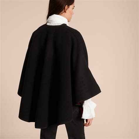 wool cashmere blend military cape coat burberry wool cashmere military cape in black parade red women