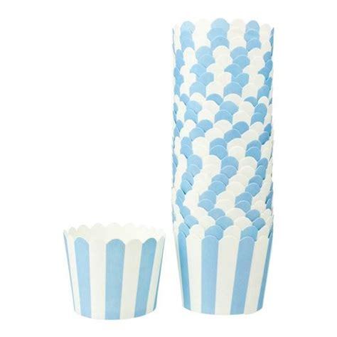 How To Make Cupcake Holders With Paper - paper cupcake holders blue 25pk koop