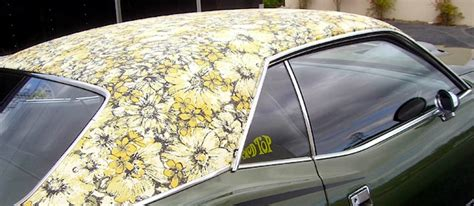 Patterned Vinyl Upholstery Fabric Mod Tops The Softer Side Of Mopar