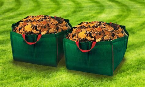 13 99 for a 2 pack of reusable lawn waste bags groupon