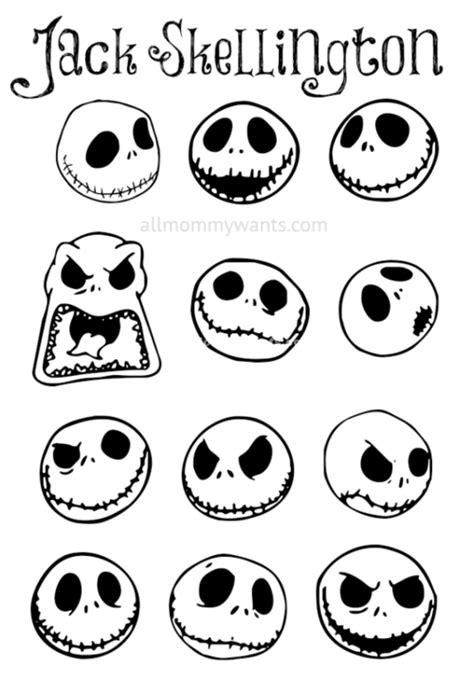 skellington template the nightmare before archives diy crafts