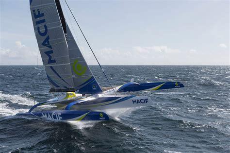 trimaran macif foil new solo 24 hour record set sailfeed