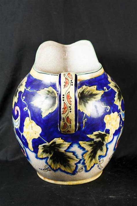 english majolica pottery porcelain jug vases dish