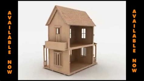 Wood Toy Doll House Pattern For Laser Cutting Cnc Router Or Scroll Saw Youtube Laser Cut House Template