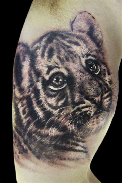 tiger and cub tattoo designs tiger cub by pictures to pin on tattooskid