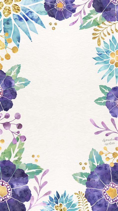 pinterest wallpaper watercolor watercolor floral blue purple yellow green wallpapers