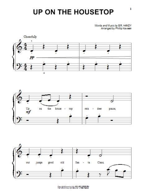 printable lyrics up on the housetop up on the housetop sheet music direct