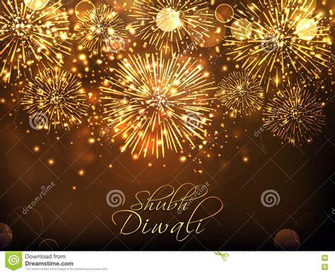 hindu new years golden fireworks background for diwali stock illustration