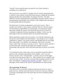 Sle Custody Agreement by Mens Guide To A Smooth Divorce