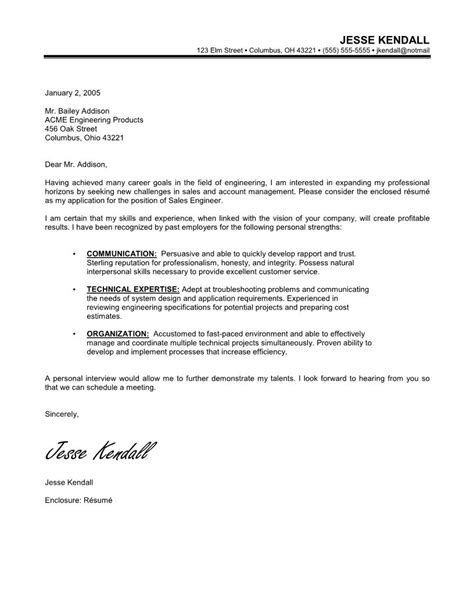 cover letter for career change exles career change sales engineering cover letter with no