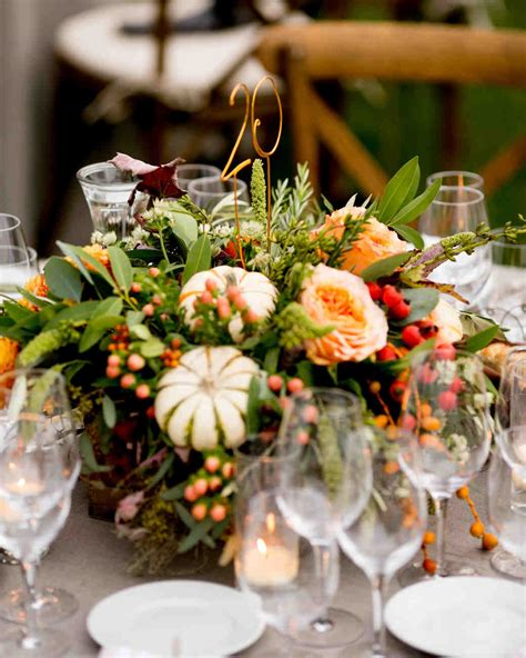 Fall Wedding Centerpieces by 66 Rustic Fall Wedding Centerpieces Martha Stewart Weddings