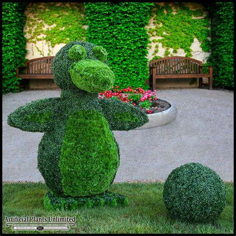outdoor topiaries custom logo or figure boxwood topiary shape 36in sq x 72in