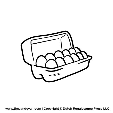 coloring page egg carton egg black and white clipart clipart suggest