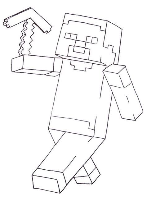 minecraft steve coloring pages free minecraft steve coloring pages printable minecraft