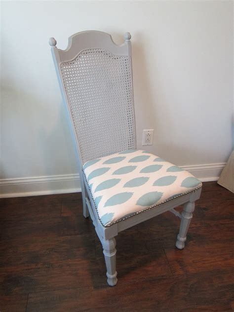 Dining Room Chair Reupholstering Cost - remodelaholic cane back dining chair makeover