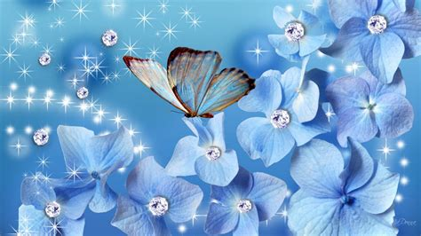 glitter wallpapers of flowers glitter blue flowers hd wallpaper one hd wallpaper
