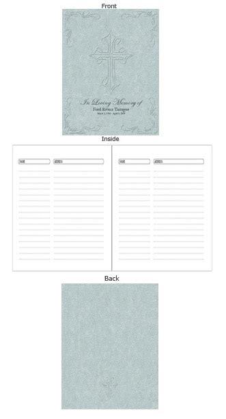 guest book layout design milestone pacific memorial guest book