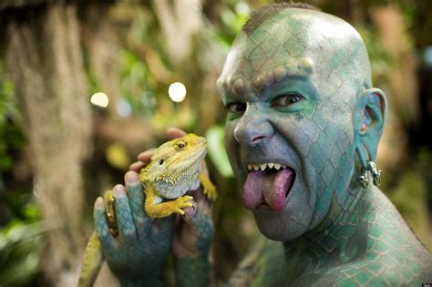lizard man tattoo erik the lizardman sprague promotes new book like only