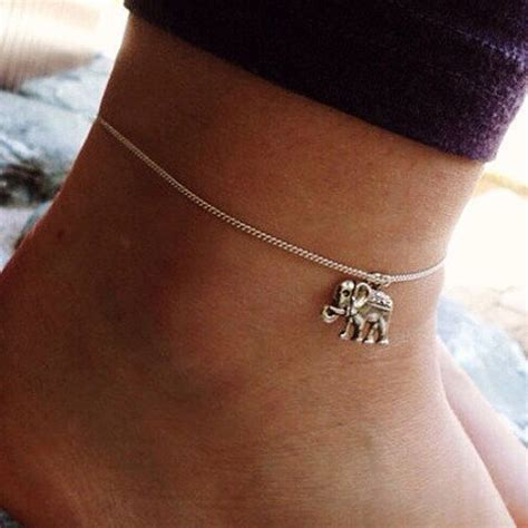Silver Ankle Elephant Pendant Leg Chain And Women's Anklet   We R Stylish