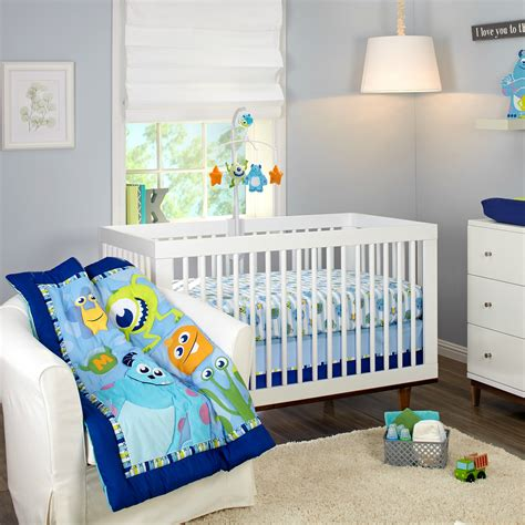 monster inc crib bedding monsters on the go 3 piece crib bedding set disney baby