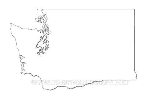 Blank Outline Map Of Washington State by Washington Maps