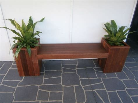 planter seat bench outdoor wooden planter bench seat home decor ideas