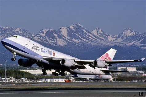 kuala skylab china airlines cargo boeing 747 at anchorage airport alaska
