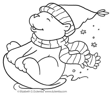 sledding coloring page dog sledding down hill dulemba coloring page tuesday sledding bear
