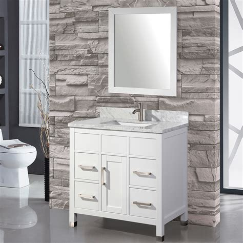 mtdvanities ricca 36 quot single sink bathroom vanity set with