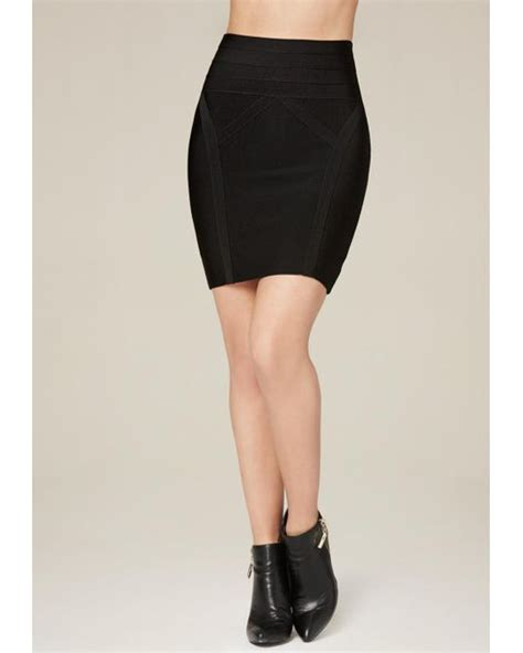 7 Reasons To High Waisted Skirts by Bebe High Waist Bodycon Skirt In Black Lyst
