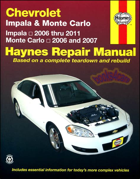 shop manual impala service repair monte carlo haynes book guide chilton ss