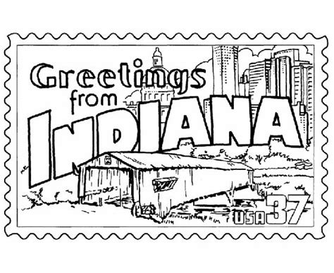 indiana state map coloring page 50 best images about greetings from the states on