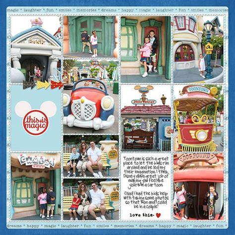 scrapbook layout disneyland ideas toontown r at disneyland project life procket style