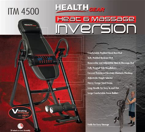 inversion table with heat and amazon com health gear itm4 5 adjustable heat