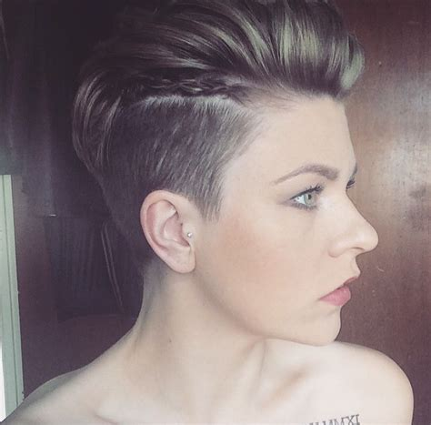 plaiting and styling pixie cuts pixie undercut faux hawk with braids run a little mousse