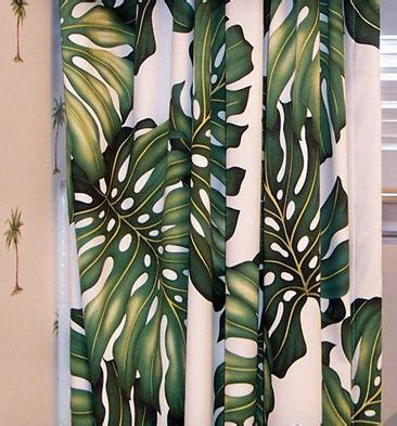 Tropical Print Curtains Hawaiian Curtains Window Curtains Drapes