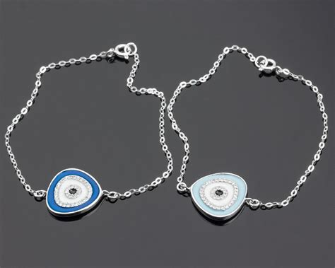 Evil Eye Jewellery by Evil Eye Bracelet Silver Bracelet For