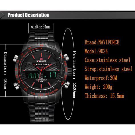 Navi Jam Tangan Analog Digital Pria Cowok Murah Elegan navi jam tangan analog digital pria 9024 black