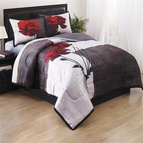 red black and grey bedding details about new bed a in bag black white grey red rose