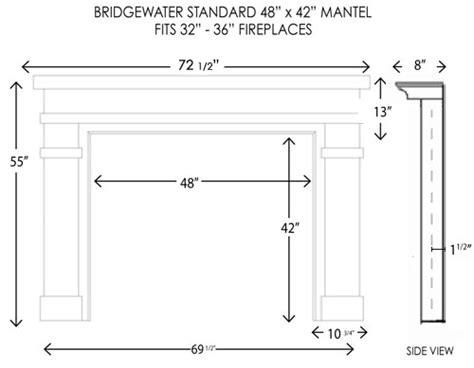 standard fireplace mantel height wood fireplace mantels bridgewater standard
