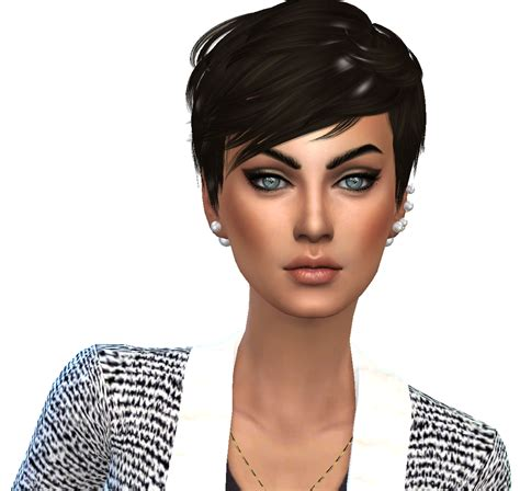 pulled up curls recolours at seven sims sims 4 updates sims 4 hair short crop i just love this short hair by
