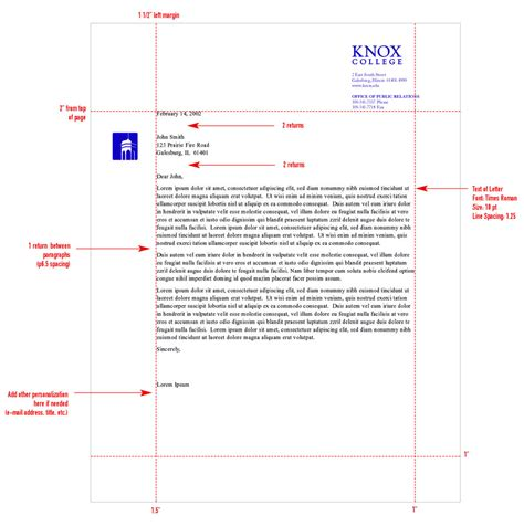 Reference Letter Format Spacing Stationery System Graphic Identities Standards College
