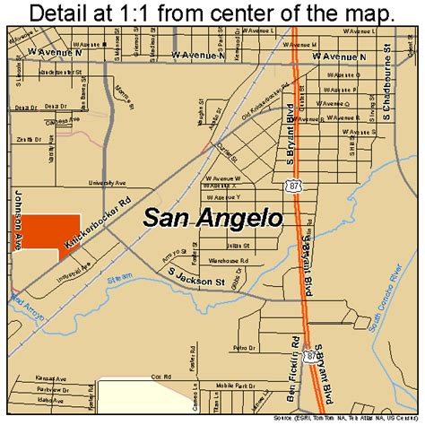 map san angelo texas san angelo texas map 4864472