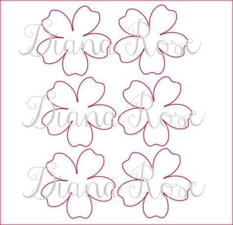 printable paper rose templates diy paper flowers