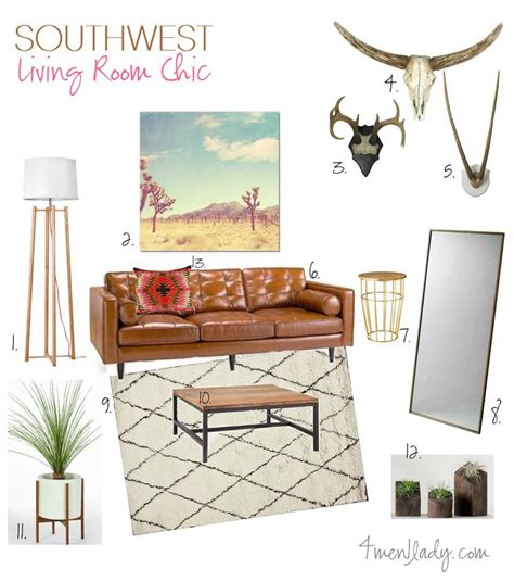 modern southwest decor southwest living room mood board 4men1lady com diy home