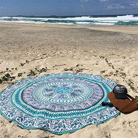 Floor And Decor Coupon by White Multi Birds Elephant Mandala Round Beach Towel
