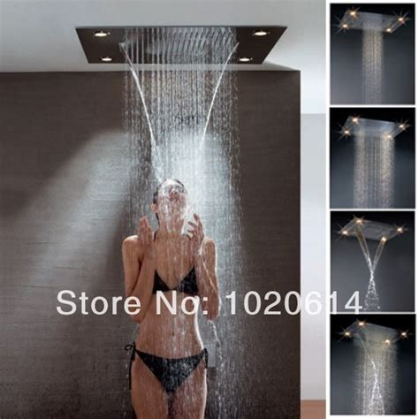 waterfall shower rainfall shower led shower