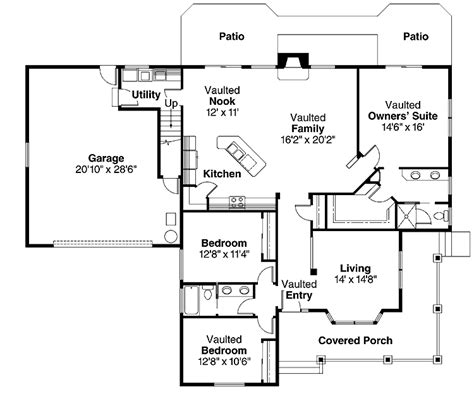 two story house plans 2000 sq ft floor plans aflfpw00383 2 story bungalow home with 3 bedrooms 2 bathrooms and 2 000