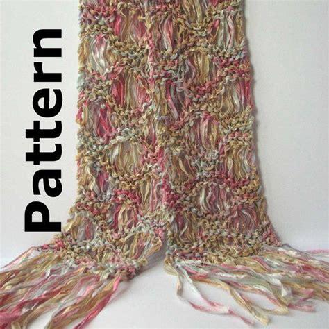 pattern for ribbon yarn drop stitch ribbon scarf pattern pdf for ripple drop